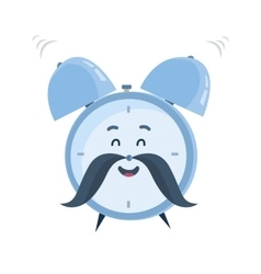 funny cartoon alarm clock character vector image
