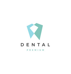 geometric dental logo icon vector image