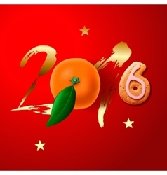 Happy Chinese New Year 2016 greeting card vector image
