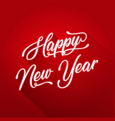 happy new year lettering card vector image