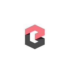 Hexagonal letter b logo template for bank vector