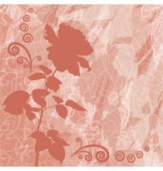 Holiday background with flower rose silhouette vector image