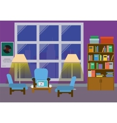 Home Interior With Large Window vector image