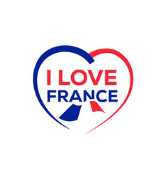 I love france vector