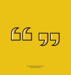 Icon quote vector