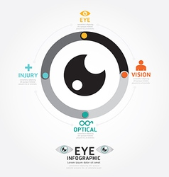 infographics eye design diagram line style vector image