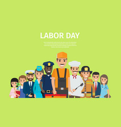 International labor day bright promotion poster vector