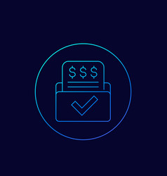 invoice bill form payments icon linear vector image