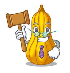 Judge squash in a mascot fruit basket vector