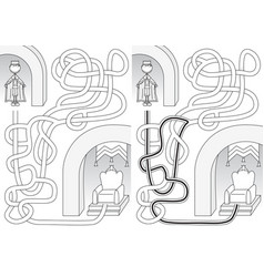king maze vector image