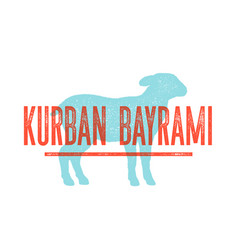 kurban bayrami lamb sheep concept design of vector image