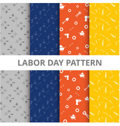 Labor day pattern background vector