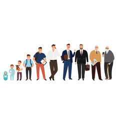 man aging stages vector image