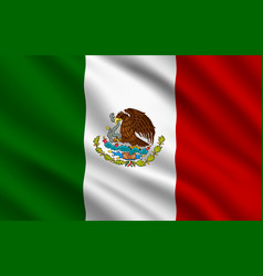 mexican flag mexico country national identity vector image