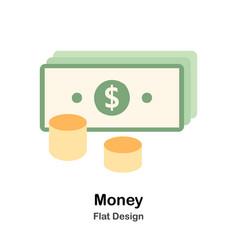 Money flat vector