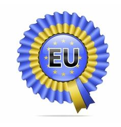 National flag badge EU vector