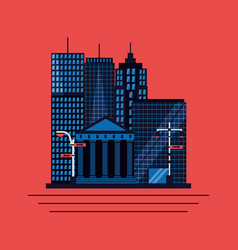 new york city card vector image