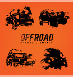 Off-road logo elements set vector