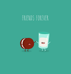 oreo and milk are friends forever graphics vector image