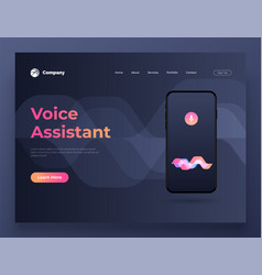 personal assistant and voice vector image