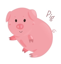 Pig Sticker for kids Child fun icon vector