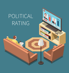 Political rating isometric background vector