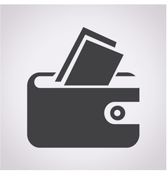 pouch icon vector image
