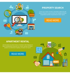 Real Estate Banners vector image
