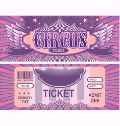 retro circus tickets vector image