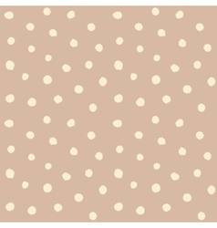 Retro hand drawn small polka dots vector image
