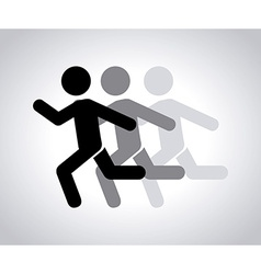 running design vector image