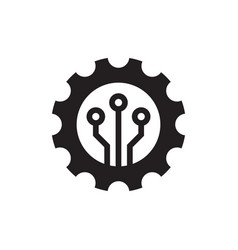 seo setting - black icon on white background vector image