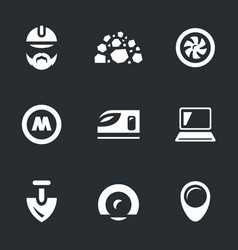set of subway construction icons vector image