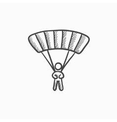 Skydiving sketch icon vector image