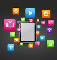 smart tablet vector image