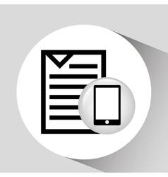 Smartphone screen document file design vector