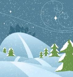 snowy hills vector image