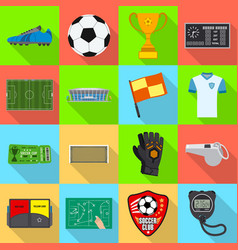 soccer and gear icon set vector image