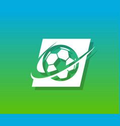 soccer logo icon vector image