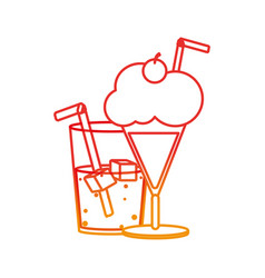 soda and milkshake design vector image