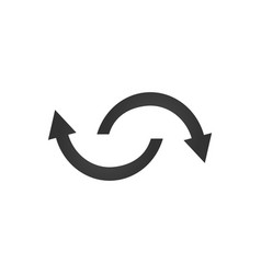 Spinning rotating arrows flat web icon or sign vector