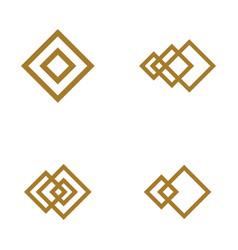 square icon vector image