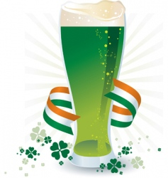 St Patrick's day beer vector image