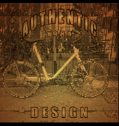 stylized bike poster vector image
