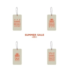 Summer sale labels vector image