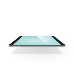 Tablet 3d isolated device with vector image