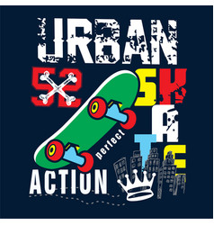 Urban skater t shirt graphic vector