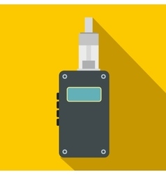 Vaping device icon flat style vector