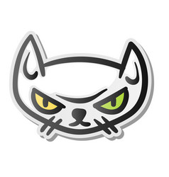 angry grumpy cat emoji face vector image vector image