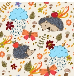 Autumn seamless texture vector image